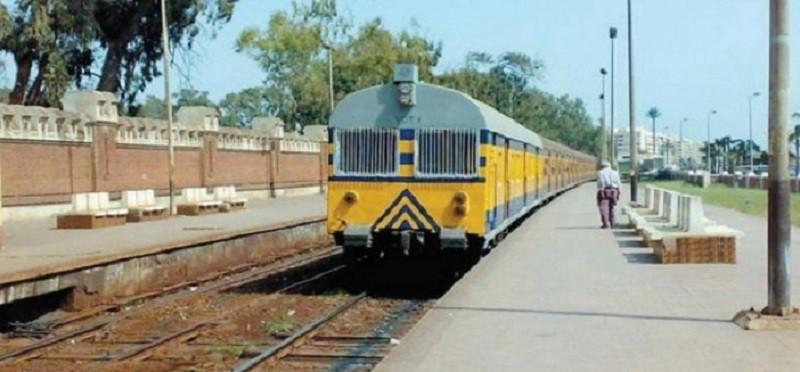 خروج قطار عن مساره في محطة سيدي جابر