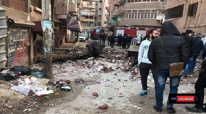 بالصور... انفجار شقة امام مدرسة الناصرية في الزقازيق