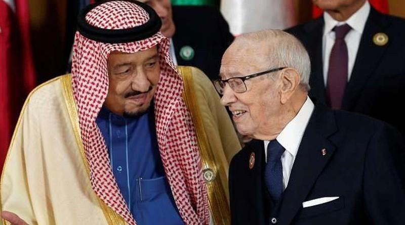 العاهل السعودي يغادر قاعة القمة فور انتهاء كلمة غوتيريش