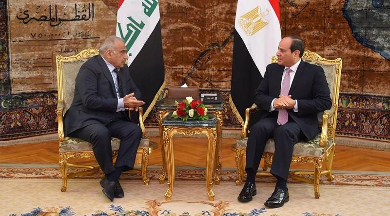 """السيسي يؤكد لـ""""عبد المهدي"""": موقف مصر الثابت والداعم لاستقرار العراق"""