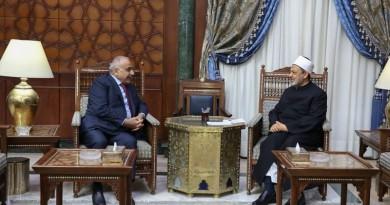 """الطيب لـ""""عبد المهدي"""": الأزهر الشريف يفتح أبوابه لكل العراقيين بمختلف مكوناتهم"""