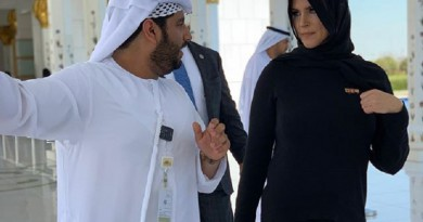 ستيفاني ماكمان ترتدي الحجاب في أبوظبي (صور)