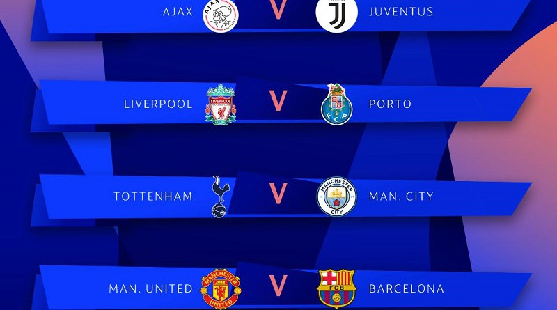 دوري الأبطال: ليفربول أمام بورتو.. وبرشلونة ضد مانشستر يونايتد