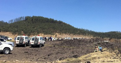 وفاة جميع ركاب الطائرة الإثيوبية (صور)
