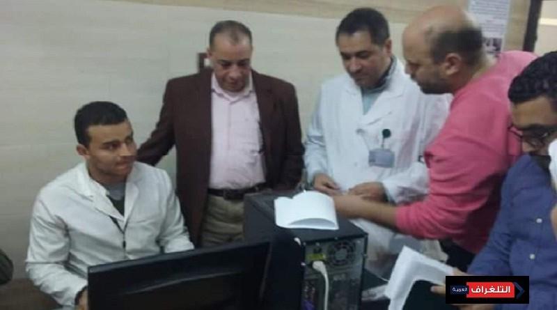سلامه يتابع سير عمل مبادرة الكشف عن فيروس سى بمركز الكبد بالزقازيق