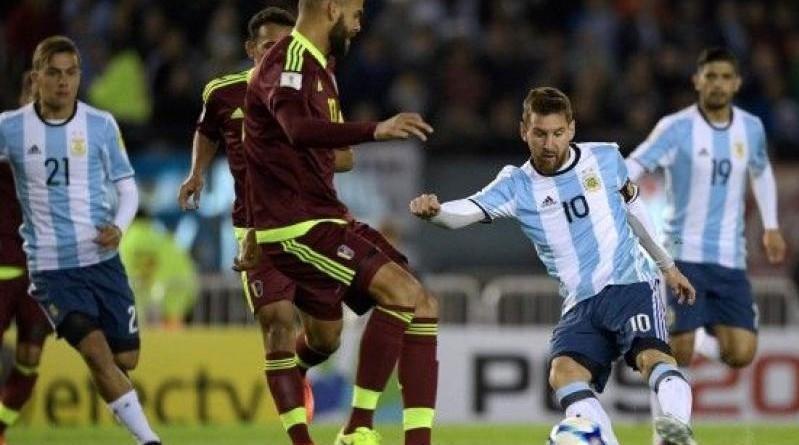 الأرجنتين وفنزويلا مباراة ودية