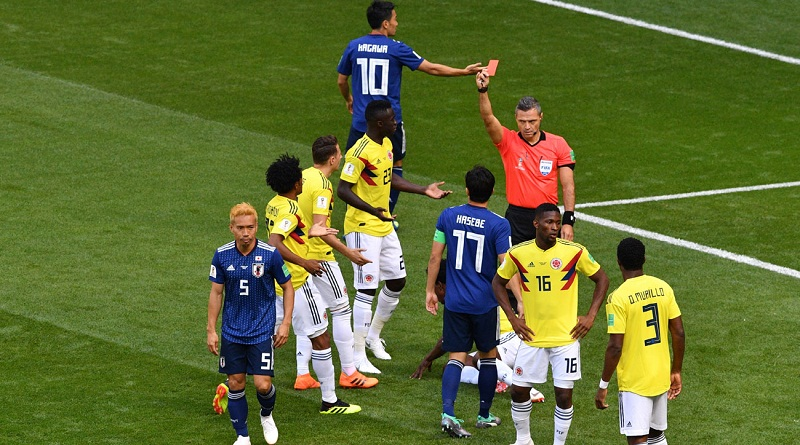 هدف مباراة اليابان وكولمبيا
