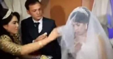 ليلة زفافهما حاولت تمازحه فتلقت العقاب (فيديو)