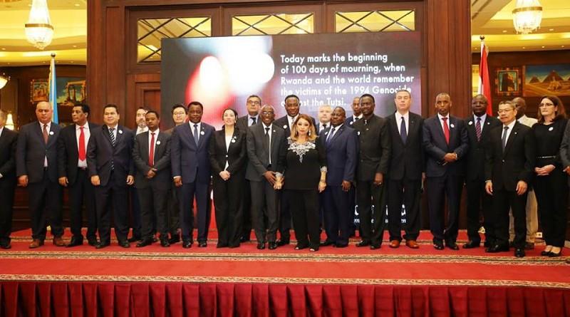 وزيرة البيئة تشارك في حفل سفارة رواندا بالقاهرة لتأبين ضحايا الإبادة الجماعية