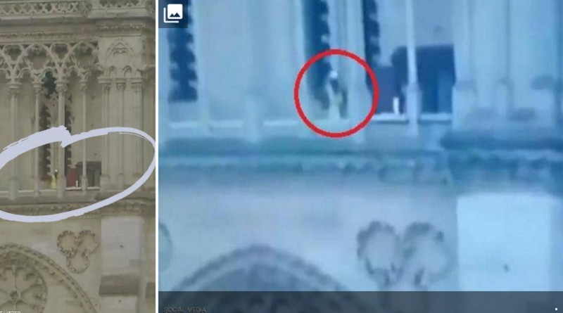 """لقطة تحسم هوية الرجل بكاتدرائية نوتردام بعد """"فيديو المؤامرة"""""""