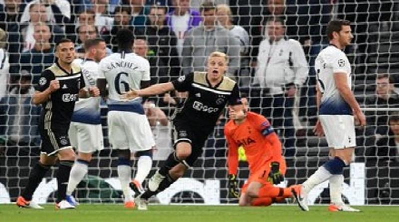 بالفيديو...أياكس يعود بفوز ثمين على توتنهام في نصف نهائي دوري الأبطال
