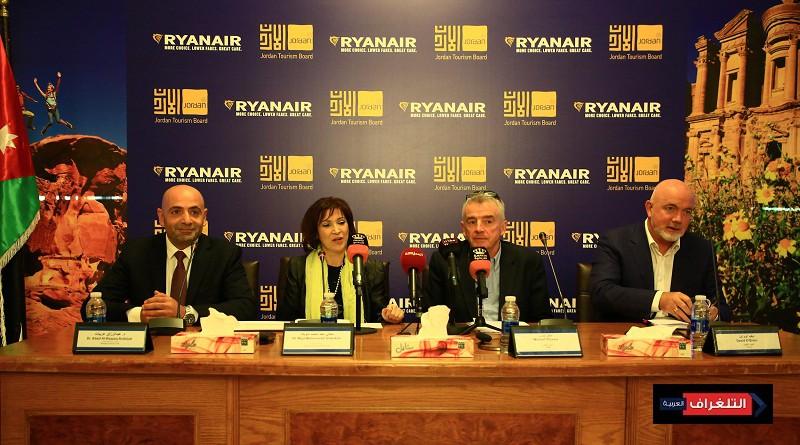 هيئة تنشيط السياحة الأردنية تعلن عن 3 خطوط جديدة للأردن على متن Ryanair لشتاء 2019