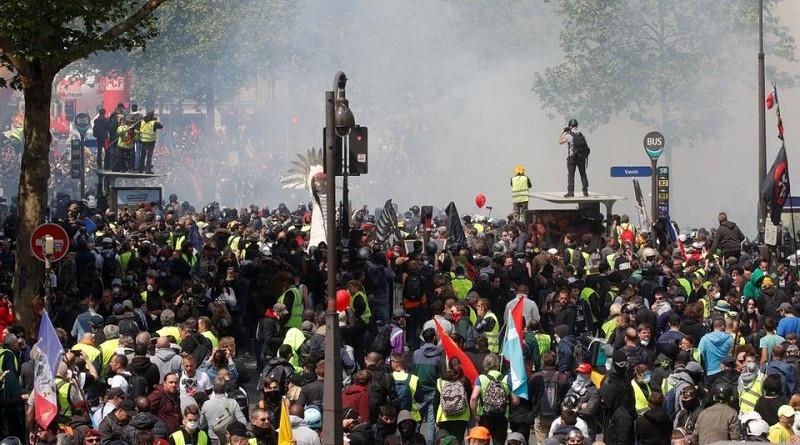 مسيرات عمالية في باريس.. وعشرات الموقوفين