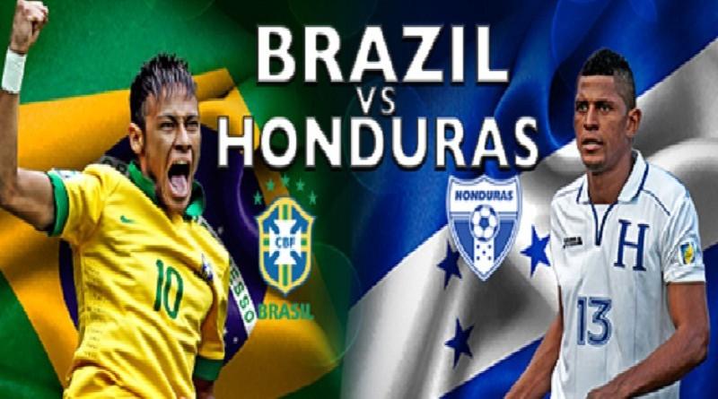 البرازيل وهندوراس مباراة ودية