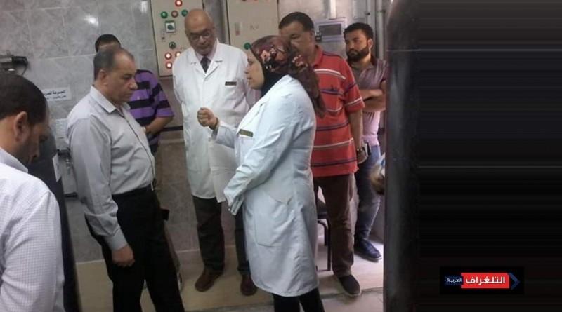 مرور مدير فرع الشرقية للتأمين الصحى على مستشفى المبرة