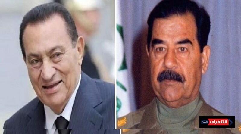 فيديو نادر لزوجتي الرئيسين صدام حسين وحسني مبارك