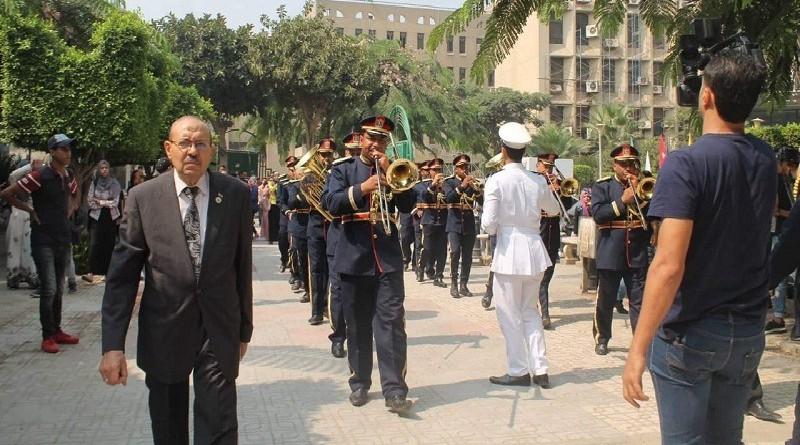 دار العلوم تحتفل بانتصارات أكتوبر المجيد بموسيقى الشرطة العسكرية فى استعراض مهيب