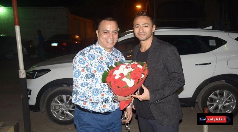 أصابة حماده هلال لم تمنعه من زيارة دار الهلال