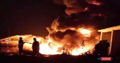 ارتفاع ضحايا حريق في خط نقل مواد بترولية إلى 8 قتلى