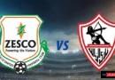 زيسكو يونايتد والزمالك دوري أبطال أفريقيا