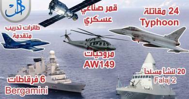 مصر تبرم أضخم صفقة عسكرية مع ايطاليا