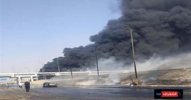 الحماية المدنية تسيطر على حريق طريق الإسماعيلية الصحراوي