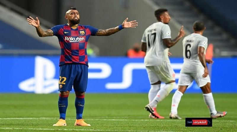 """أرتورو فيدال يهاجم برشلونة لجعل ميسى """"لاعب من كوكب آخر"""""""