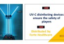 UV-C disinfecting devices ensure the safety of players