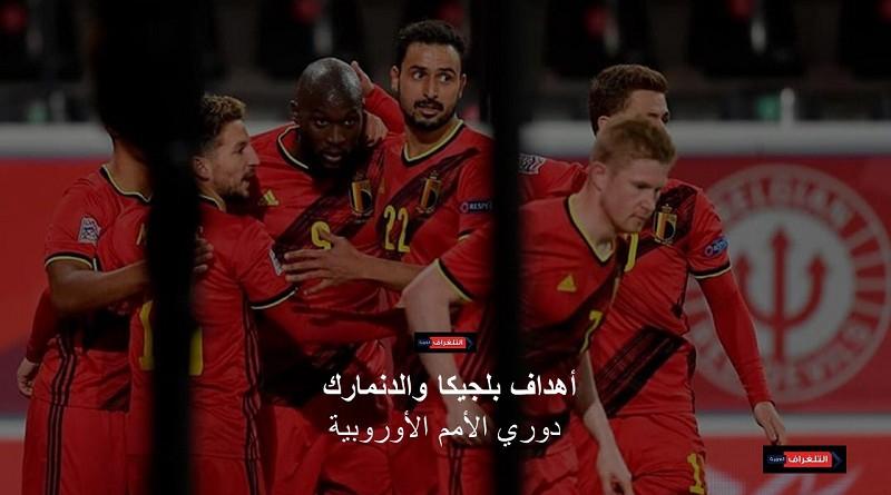 أهداف بلجيكا والدنمارك