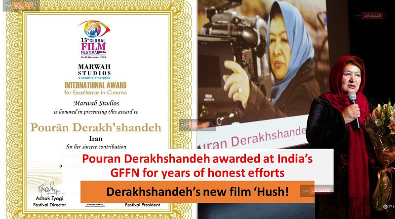 Pouran Derakhshandeh awarded at India's GFFN for years of honest efforts