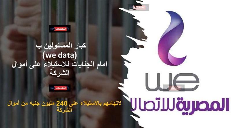 كبار المسئولين ب (we data) امام الجنايات للاستيلاء على أموال الشركة